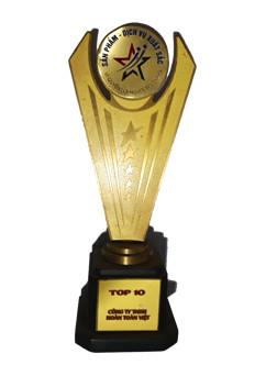 Đạt cúp vàng top 10 thương hiệu xuất sắc Việt Nam
